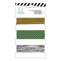 Heidi Swapp - Ribbon Set - Gold and Green