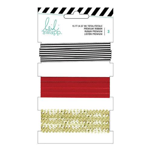 Heidi Swapp - Ribbon Set - Red and Black