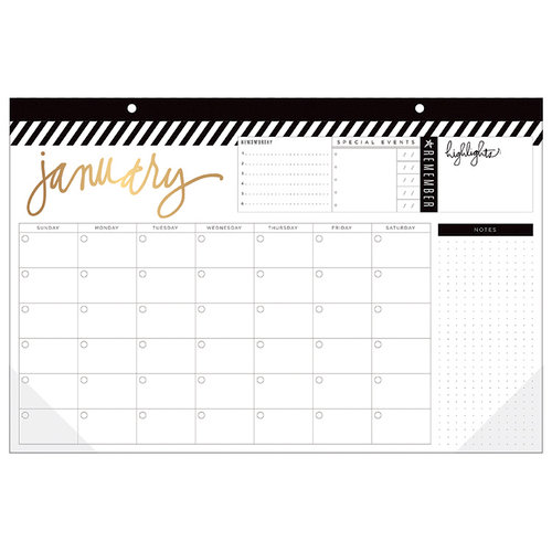 Heidi Swapp - Fresh Start Collection - Memory Planner - Planner - Desktop Calendar - 12 Month - Undated