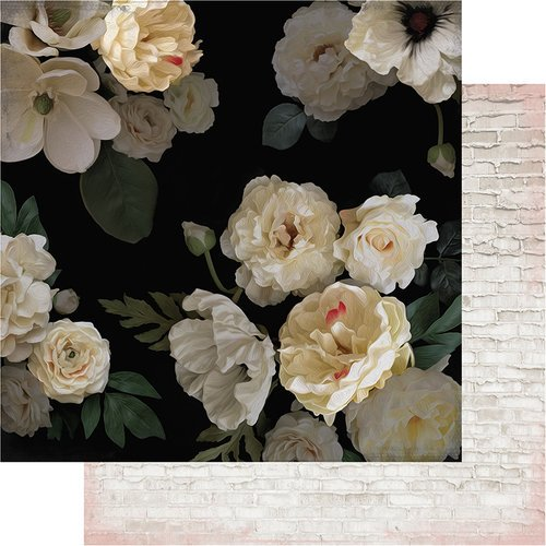 Heidi Swapp - Magnolia Jane Collection - 12 x 12 Double Sided Paper - Magnolia