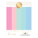 Heidi Swapp - MINC Collection - 8.5 x 11 Paper Pad - Pastels