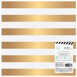Heidi Swapp - Magnolia Jane Collection - 12 x 12 Paper with Foil Accents - Gold Stripe
