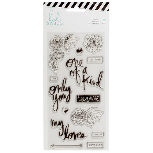 Heidi Swapp - Magnolia Jane Collection - Clear Acrylic Stamps - HS - Only You