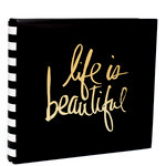 Heidi Swapp - Storyline Collection - 12 x 12 Album - Gold Life
