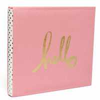 Heidi Swapp - Storyline Collection - 12 x 12 Album - Gold Hello