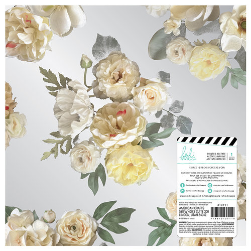 Heidi Swapp - Magnolia Jane Collection - 12 x 12 Acetate Paper - Floral