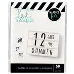 Heidi Swapp - LightBox Collection - Icons - Double Size Numbers - Black