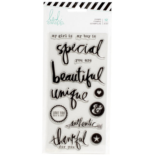 Heidi Swapp - Magnolia Jane Collection - Clear Acrylic Stamps - Special