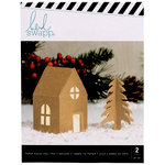 Heidi Swapp - Home for the Holidays Collection - Christmas - Small Cottage Kraft