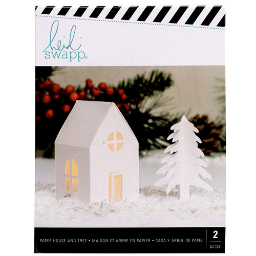 Heidi Swapp - Home for the Holidays Collection - Christmas - Small White Cottage