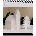 Heidi Swapp - Home for the Holidays Collection - Christmas - White Church Kraft