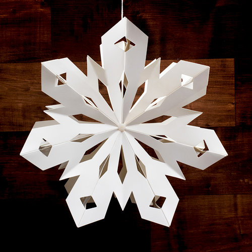 Heidi Swapp - Home for the Holidays Collection - Christmas - Paper Lantern - Small Snowflake