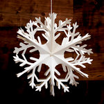 Heidi Swapp - Home for the Holidays Collection - Christmas - Paper Lantern - Medium Snowflake