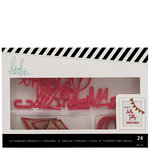 Heidi Swapp - Christmas - Letterboard - Phrase Kits - Holly Jolly - Red