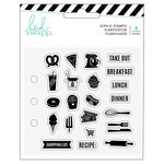 Heidi Swapp - Fresh Start Collection - Memory Planner - Clear Acrylic Stamps - Food