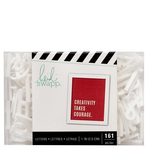 Heidi Swapp - Letterboard - Alphabet - 1 Inch - Sans Serif - White