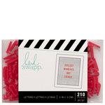 Heidi Swapp - Letterboard - Alphabet - .5 Inch - Sans Serif - Red