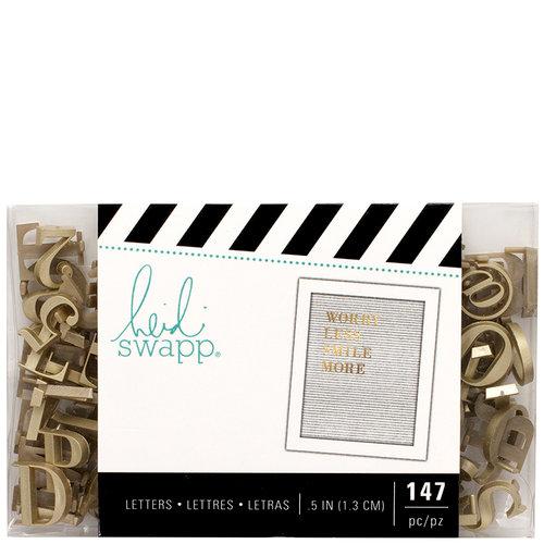 Heidi Swapp - Letterboard - Alphabet - .5 Inch - Serif - Gold