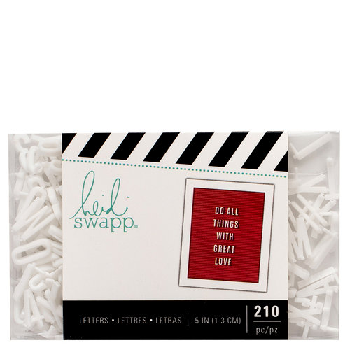 Heidi Swapp - Letterboard - Alphabet - .5 Inch - Sans Serif - White