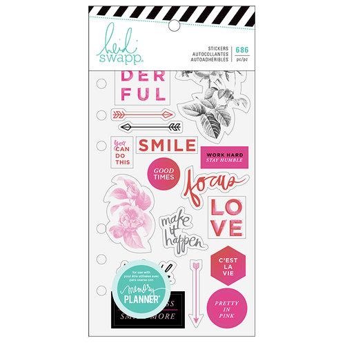Heidi Swapp - Fresh Start Collection - Memory Planner - Clear Stickers - Elegant with Foil Accents