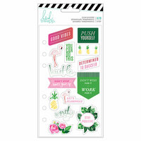 Heidi Swapp - Fresh Start Collection - Memory Planner - Clear Stickers - Tropical with Foil Accents