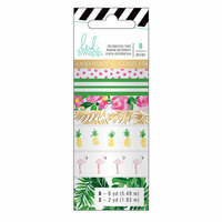 Heidi Swapp - Fresh Start Collection - Memory Planner - Washi Tape - Tropical with Foil Accents