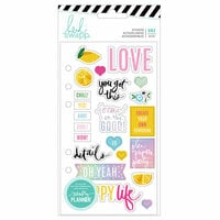 Heidi Swapp - Fresh Start Collection - Memory Planner - Clear Stickers - Playful with Foil Accents