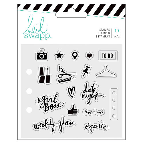 Heidi Swapp - Fresh Start Collection - Memory Planner - Clear Acrylic Stamps - Everyday