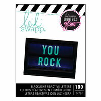 Heidi Swapp - LightBox Glow Collection - Mega Pack - Alphabet - Teal