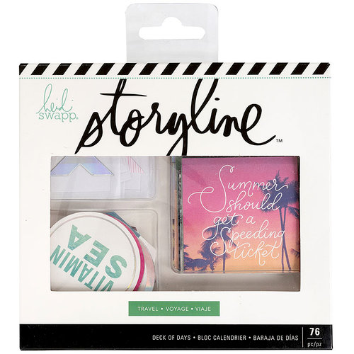 Heidi Swapp - Storyline 2 Collection - Deck of Days - Travel with Foil Accents