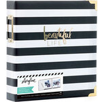 Heidi Swapp - Storyline 2 Collection - 8.5 x 11 D-Ring Album - Black Stripe