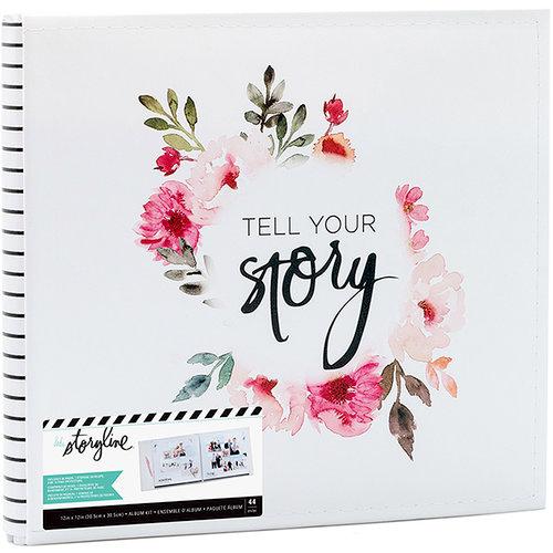 Heidi Swapp - Storyline 2 Collection - 12 x 12 Post Bound Album - White Floral
