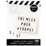 Heidi Swapp - LightBox Collection - Alphabet - Handletter - Black