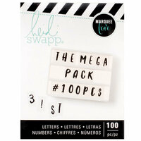 Heidi Swapp - LightBox Collection - Alphabet - Handletter - Black