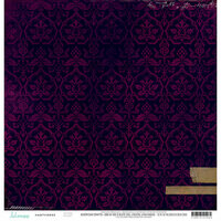 Heidi Swapp - Hawthorne Collection - 12 x 12 Double Sided Paper - Velvet