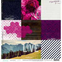 Heidi Swapp - Hawthorne Collection - 12 x 12 Double Sided Paper - 9th and 9th