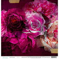 Heidi Swapp - Hawthorne Collection - 12 x 12 Double Sided Paper - Flourish