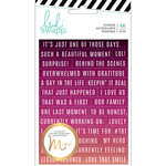 Heidi Swapp - Hawthorne Collection - Minc - Cardstock Stickers - Word Jumbles