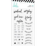 Heidi Swapp - Hawthorne Collection - Clear Acrylic Stamps - Phrase