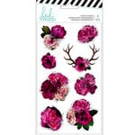 Heidi Swapp - Hawthorne Collection - Clear Stickers - Floral