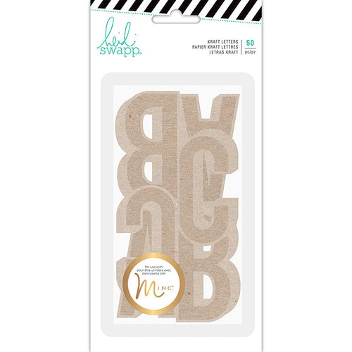 Heidi Swapp - Hawthorne Collection - Kraft Jumbo Alphabet