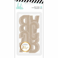 Heidi Swapp - Hawthorne Collection - Kraft Jumbo Alphabet