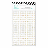 Heidi Swapp - Fresh Start Collection - Memory Planner - Clear Stickers - Numbers and Icons with Gold Foil