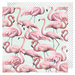 Heidi Swapp - Pineapple Crush Collection - 12 x 12 Double Sided Paper - Flamingle