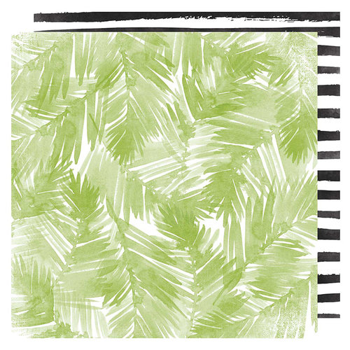 Heidi Swapp - Pineapple Crush Collection - 12 x 12 Double Sided Paper - Palm Beach
