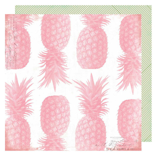 Heidi Swapp - Pineapple Crush Collection - 12 x 12 Double Sided Paper - Pineapple Crush