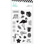 Heidi Swapp - Pineapple Crush Collection - Clear Acrylic Stamps