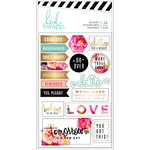 Heidi Swapp - Planner - Floral Stickers with Foil Accents - Back to School