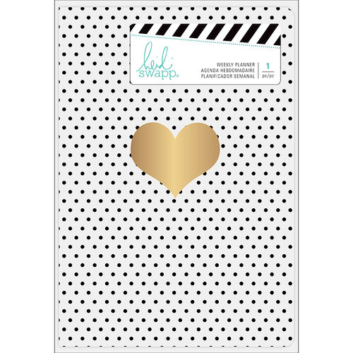 Heidi Swapp - Weekly Planner - Personal - Heart with Foil Accents - Undated