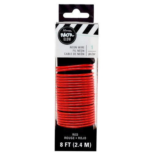 Heidi Swapp - Neon Glow - Wire - 8 Feet - Red
